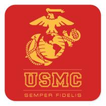USMC Semper Fidelis [Semper Fi] Square Sticker