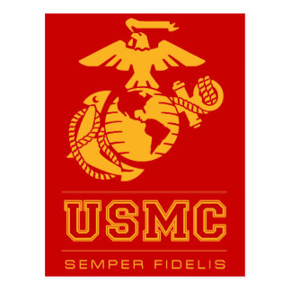 USMC Semper Fidelis [Semper Fi] Tarjeta Postal