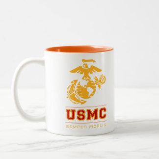 USMC Semper Fidelis [Semper Fi] Taza De Dos Tonos