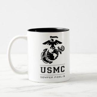 USMC Semper Fidelis [Semper Fi] Two-Tone Coffee Mug