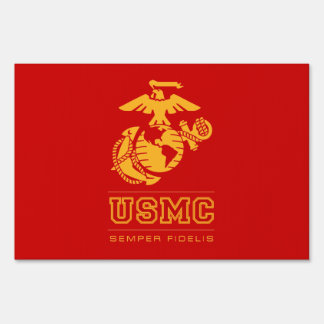 USMC Semper Fidelis [Semper Fi] Yard Signs