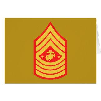 USMC SMMC Sergeant Major of the Marine Corps E-9 Card