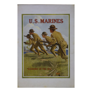 USMC Soldiers of the Sea Poster