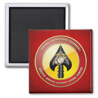 USMC Special Operations Command (MARSOC) [3D] 2 Inch Square Magnet