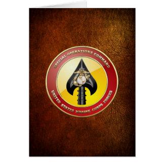 USMC Special Operations Command (MARSOC) [3D] Card