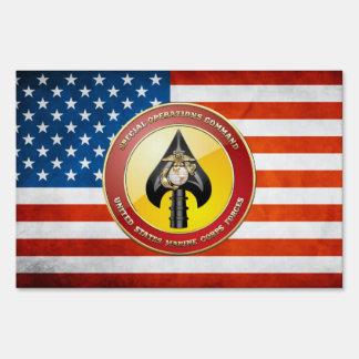 USMC Special Operations Command (MARSOC) [3D] Lawn Sign