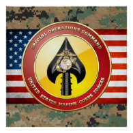 USMC Special Operations Command (MARSOC) [3D] Posters