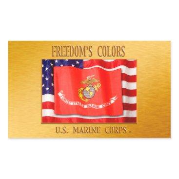USMC StickerUSMC, U.S. Marine Corps, wooshy, Sempe Rectangular Sticker