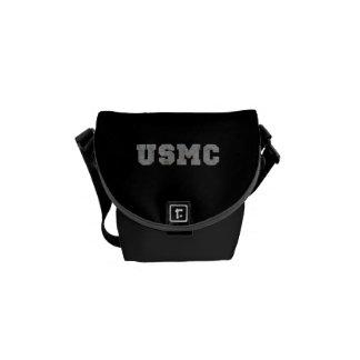 USMC [texto oxidado] Bolsa De Mensajeria