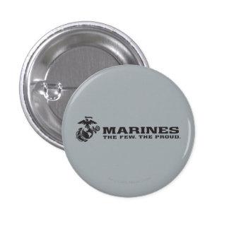 USMC The Few The Proud Logo - Black Button