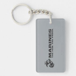 USMC The Few The Proud Logo - Black Keychain