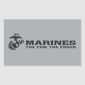 USMC The Few The Proud Logo - Black Rectangular Sticker