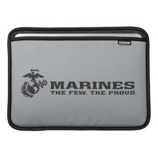 USMC The Few The Proud Logo - Black Sleeve For MacBook Air