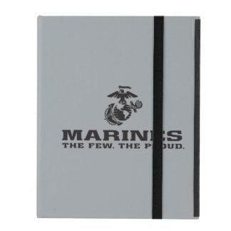 USMC The Few The Proud Logo Stacked - Black iPad Folio Case
