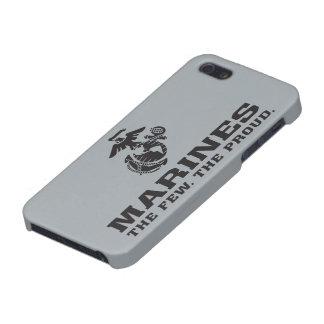USMC The Few The Proud Logo Stacked - Black iPhone SE/5/5s Case