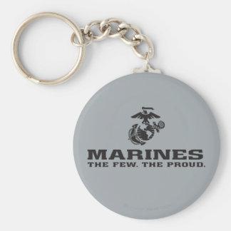 USMC The Few The Proud Logo Stacked - Black Keychain