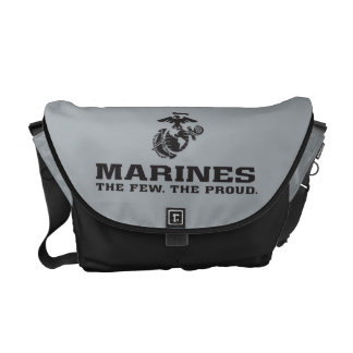 USMC The Few The Proud Logo Stacked - Black Messenger Bag