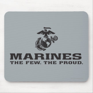USMC The Few The Proud Logo Stacked - Black Mouse Pad