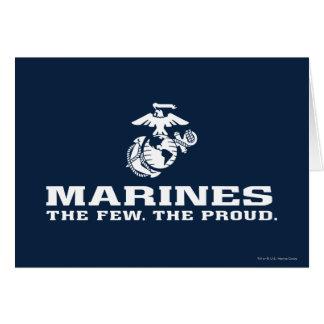 USMC The Few The Proud Logo Stacked - White Card
