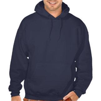 USMC The Few The Proud Logo Stacked - White Hooded Sweatshirts