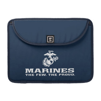 USMC The Few The Proud Logo Stacked - White MacBook Pro Sleeve