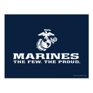 USMC The Few The Proud Logo Stacked - White Postcard