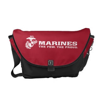 USMC The Few The Proud Logo - White Courier Bag
