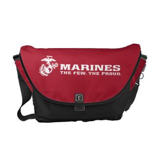USMC The Few The Proud Logo - White Courier Bag