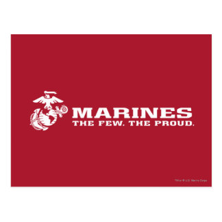 USMC The Few The Proud Logo - White Postcard