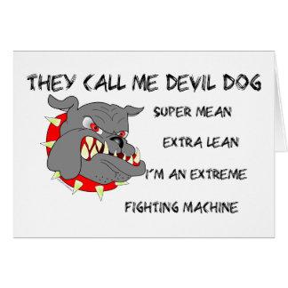 USMC They Call Me Devil Dog Card