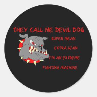 USMC They Call Me Devil Dog Classic Round Sticker