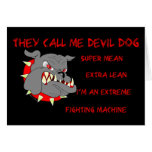 USMC They Call Me Devil Dog Greeting Cards