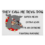 USMC They Call Me Devil Dog Poster