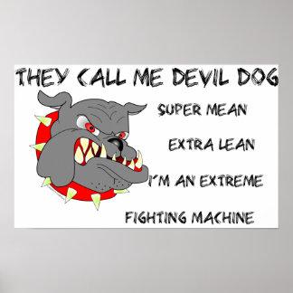 USMC They Call Me Devil Dog Poster