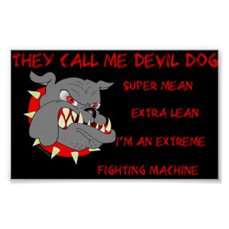 USMC They Call Me Devil Dog Posters