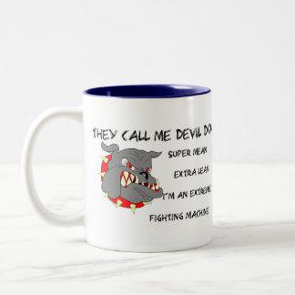 USMC They Call Me Devil Dog Two-Tone Coffee Mug