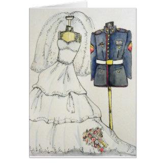 USMC Wedding Card
