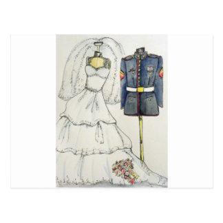 USMC Wedding Postcard