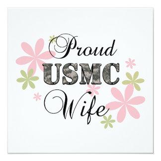 USMC Wife [fl camo] Card