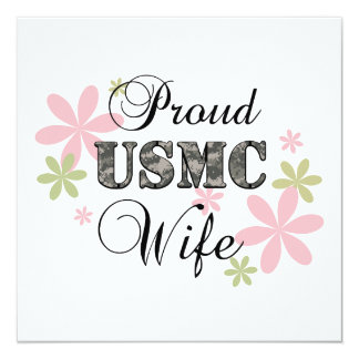 USMC Wife [fl camo] Custom Announcement