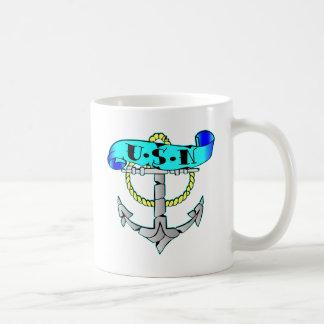 USN Anchor Tattoo Coffee Mug