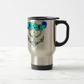 USN Anchor Tattoo Travel Mug