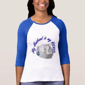 """USNAVYFANMERCH"", ""Husband/Hero T-Shirt"