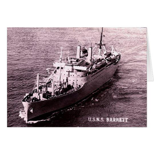 USNS Barrett Card