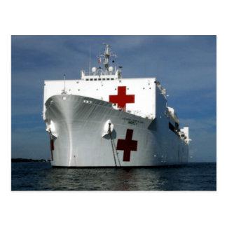 USNS Mercy Hospital Ship Postcard