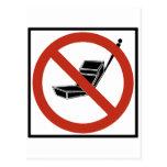 Uso del teléfono celular prohibido postal