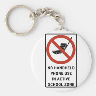 Uso del teléfono del PDA prohibido Llaveros Personalizados