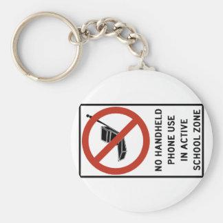 Uso del teléfono del PDA prohibido Llavero Personalizado