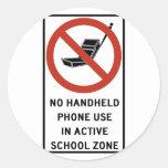 Uso del teléfono del PDA prohibido Etiqueta Redonda