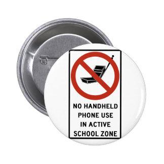 Uso del teléfono del PDA prohibido Pin
